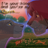 "Mine. I love Simba and Nala. The text is from the song ""It Takes Two."""