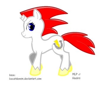Name: Lightspeed Age:Mare Gender: Female Job: None Personality: Fun-loving and tomboy-ish Lives: