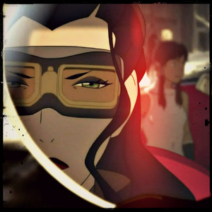 Mad Asami. And she has a right to be mad too, stinkin' cheating Mako. >:(