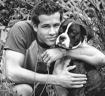Ryan Reynolds  on Ryan Reynolds With A Dog