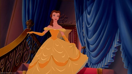 Belle's dress is yellow