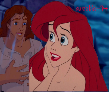 Ariel & Beast (Prince Adam). I watched a few vídeos with them and I thought they looked cute together