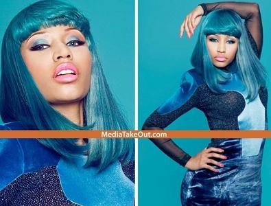 nicki minaj wit blue hair