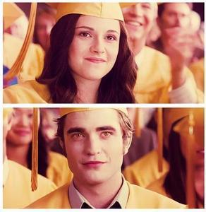 Bella and Edward Graduation...caps.