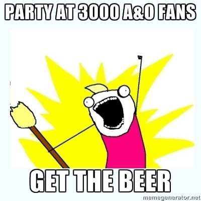 PARTY AT 3000 FANS