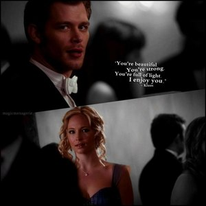 Ummm Cute!! I love it how Caroline was snapping at him in that dance!