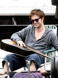 Rob playing hie Guitar.