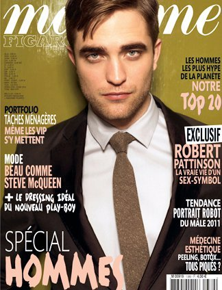 Rob on the cover of Madame.