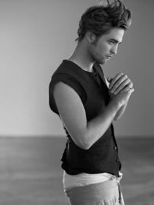 Rob sexy in black & white.