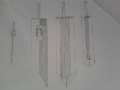 Here is a Sketch of all Kumo forms, katana, shikai, bankai and shattered bankai form. This just to gi