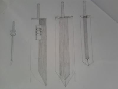 Here is a Sketch of all Kumo forms, katana, shikai, bankai and shattered bankai form. This just to gi