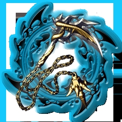 Zanpakuto Name: Rensanami (Chained Wave) Release Command: Furo (Flow) Shikai Description: When Rele