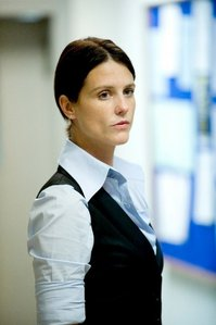 Hm, I usually have character crushes, but I'd say Heather Peace who plays Sam in Lip Service (ok, I h