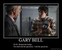 This is mine  Respect the badge, we ask the questions - Gary Bell Alphas. Heres a similar quote of hi