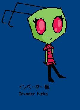 sorry forgot to add image. my person looks alot like zim but a girl version.