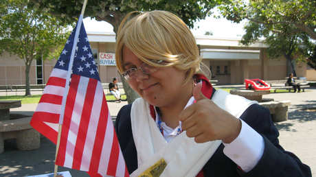My first ever cosplay was Revolutionary War America~ <3 It was sooooo fun XD I had a blast! X3