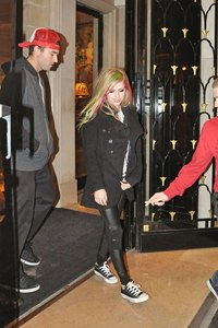 Avril Wearing Boots