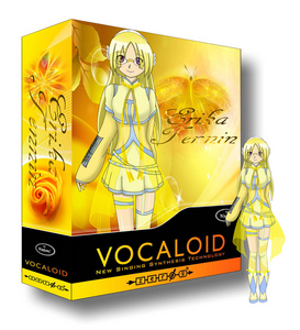 Vocaloid Name:Erika Tennin Gender:Female Age:14 Number:22 Hair Color and Style:Light yellow (look at