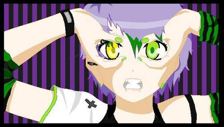 Vocaloid Name: Ryo Kazue Gender: Female Age: 17 Number: A cross Hair Color and Style: Messy, Shor