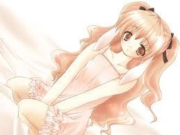 Vocaloid Name: Yami Kiku  Gender: Female  Age: 14  Number: 14  Hair Color and Styl: peachy orange