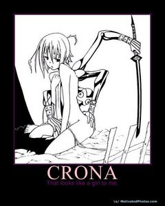 """I think crona is a girl because of this http://www.zerochan.net/1053963 and Crona сказал(-а) """" I don't know"""