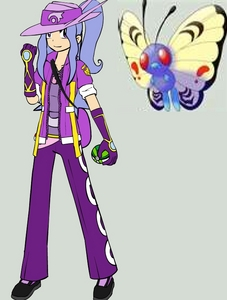 "Mary ""Purple"" May 16 female Role: Flutura Gym Leader-Sapphire has all vlinder and mot, nachtvlinder Pokemon (and"