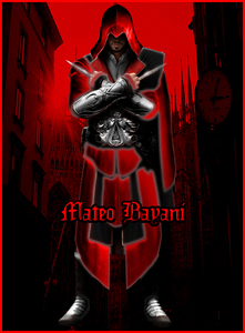 "Name: Mateo Bayani  Born: April 28, 1689 Alias: ""Crimson"" Affiliations: Assassins  Description: He is"