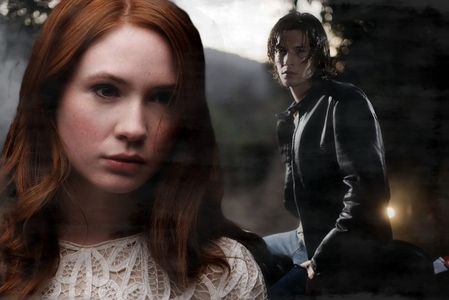 Book Bamon:Karen Gillan as Bonnie Mccullough and Ben Barnes as Damon Salvatore