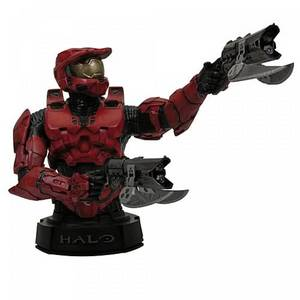Hello Halo fans, I have a blue and red master chief Halo mini bust for sale. I want to sell it for