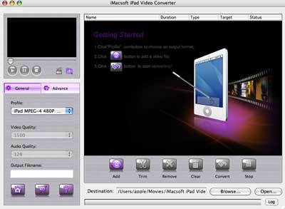 [url=http://mac-ipad-app.xstudio.biz/]Mac iPad Converter[/url] can convert AVI, FLV(Youtube), MKV, MP
