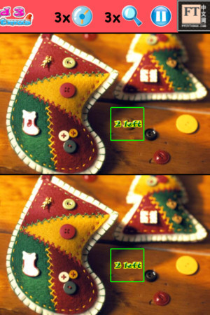 "I just find a game not bad for Christmas. looking for 3 differences ""Find 3 spots Xmas"". http://"