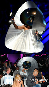 Is this Lady Gaga's Most Bizarre Outfit Ever? http://www.safm.com.au/entertainment/the_dirt/blog/l