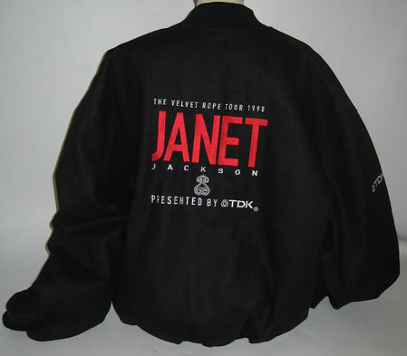 JANET JACKSON The Velvet Rope Tour 1998 (Rare & unworn 'US College' style koti, jacket produced in limited