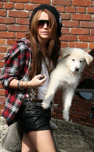 Post the best and the most cutest pic of Miley Cyrus along with her pets.