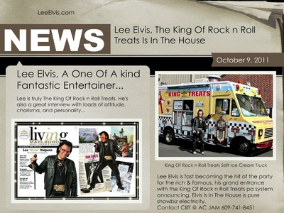 Lee Elvis and his King Of Rock n Roll Treats soft ice cream truck is fast becoming the hit of the par