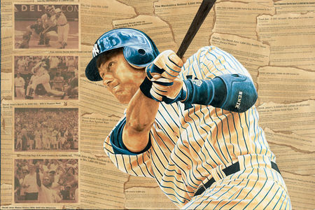 Check out this painting of Jeter's 3,000th hit: http://www.jasonrobichau.com/jeter-raffle