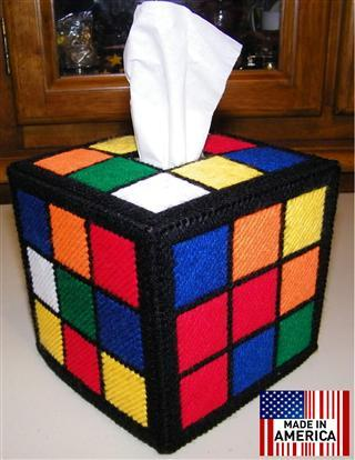 the authentic rubik 39 s cube tissue box cover seen on tbbt. Black Bedroom Furniture Sets. Home Design Ideas