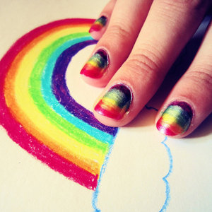Theme1:Rainbow nails