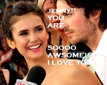 hola MY AWSOME JENNY! I THINK...YOU DESERVE MANY MANY GIFTS! BECAUSE tu ARE SOOOOOOOOOO AMAZING! SO