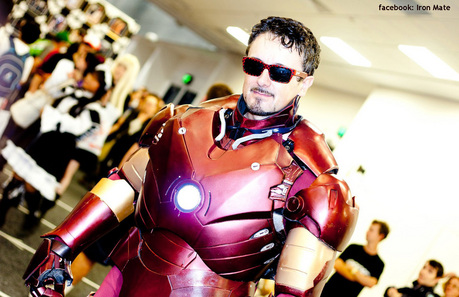 Having some fun in an Ironman suit here is Australia - Some picha from the Australian Avengers movie