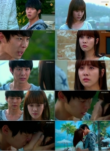 Lee Gak (Park Yoochun) and Park Ha (Han Ji Min) shared a teary-eyed kiss.<br /> <br /> On episode 12