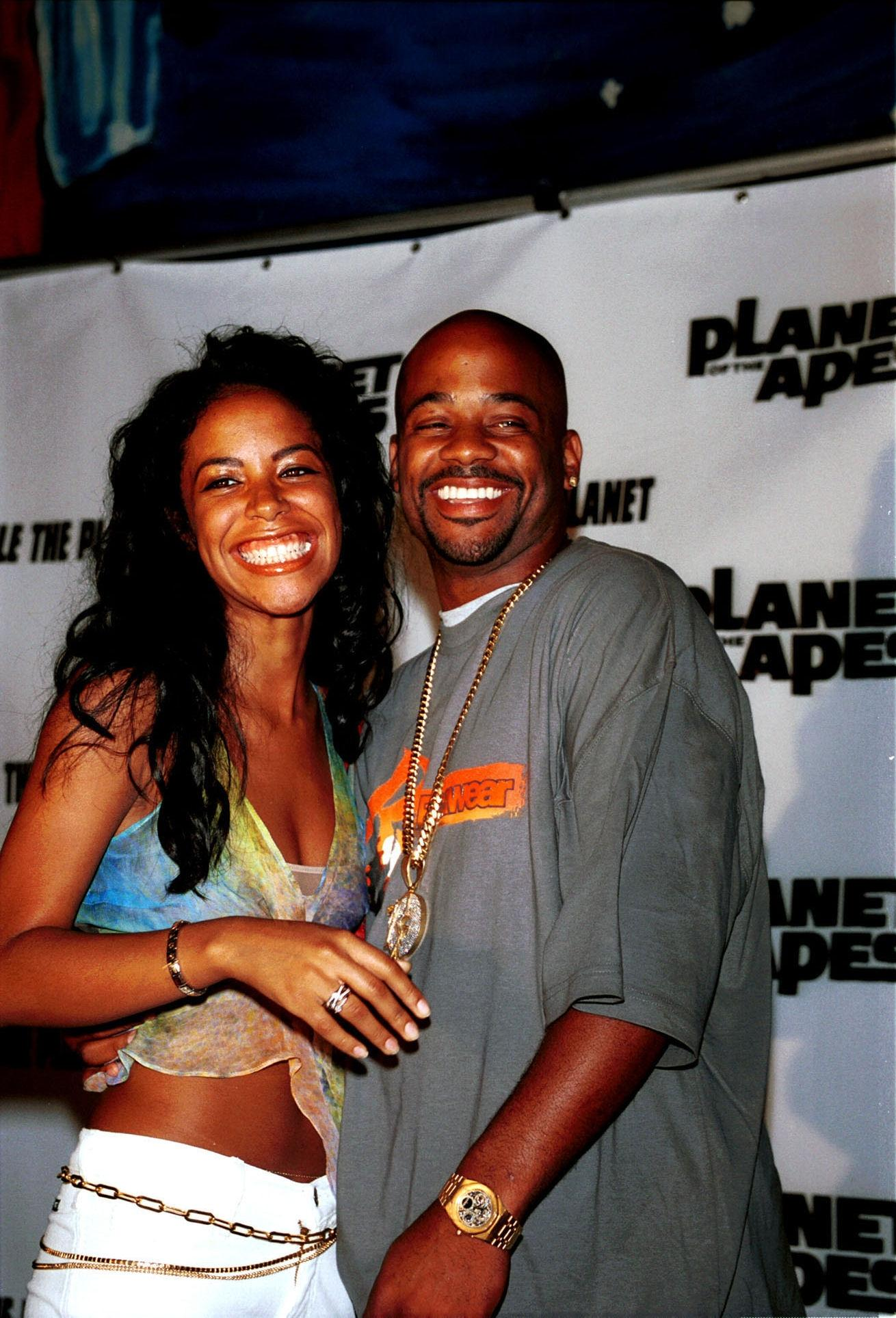 Алия and Damon at the premiere of the' Planet of the Apes' movie
