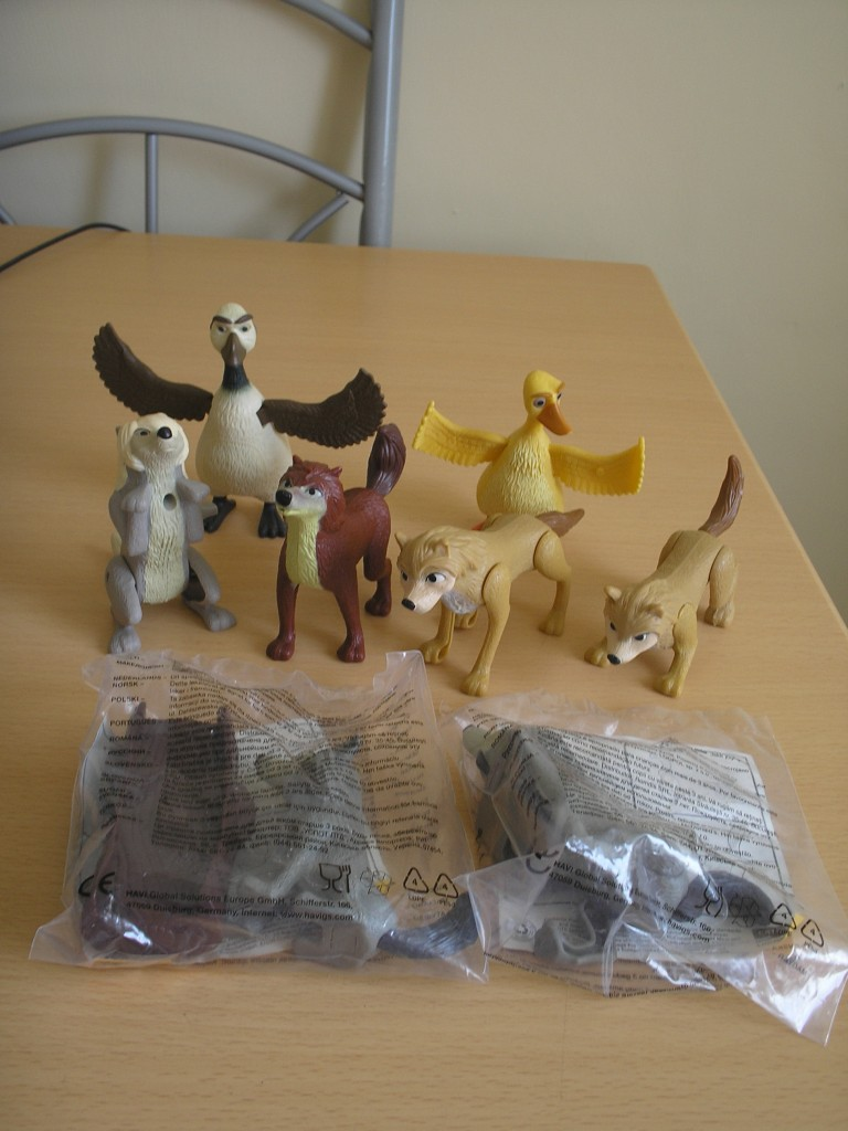 Alpha and Omega McDonalds Toys