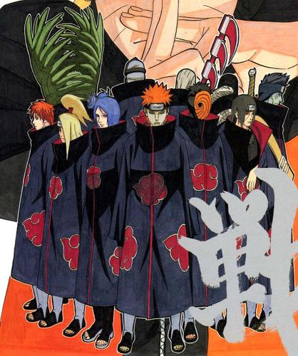 An evil hiden organization called the Akatsuki!
