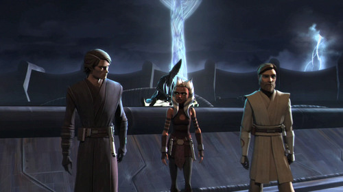 Anakin,ahsoka,and obi-wan