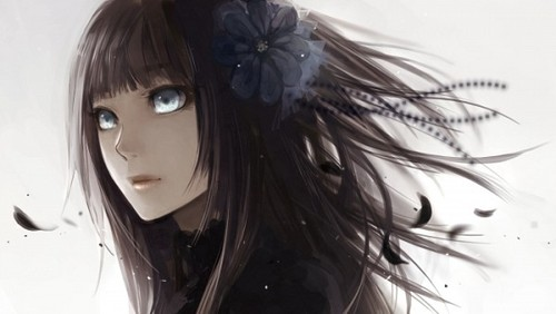 ragazze Anime wallpaper probably containing a portrait titled Anime Girl;
