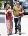 AnnaLynne McCord and Dominic Purcell seen out in Hollywood, Aug 13