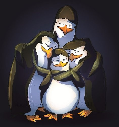 Aww, group hug<3