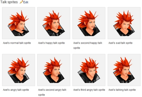 Axel`s talk sprites