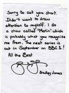 Bradley's mysterious note